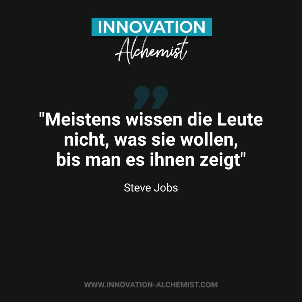 Zitat Innovation: Meistens wissen die Leute nicht, was sie wollen, bis man es ihnen zeigt
