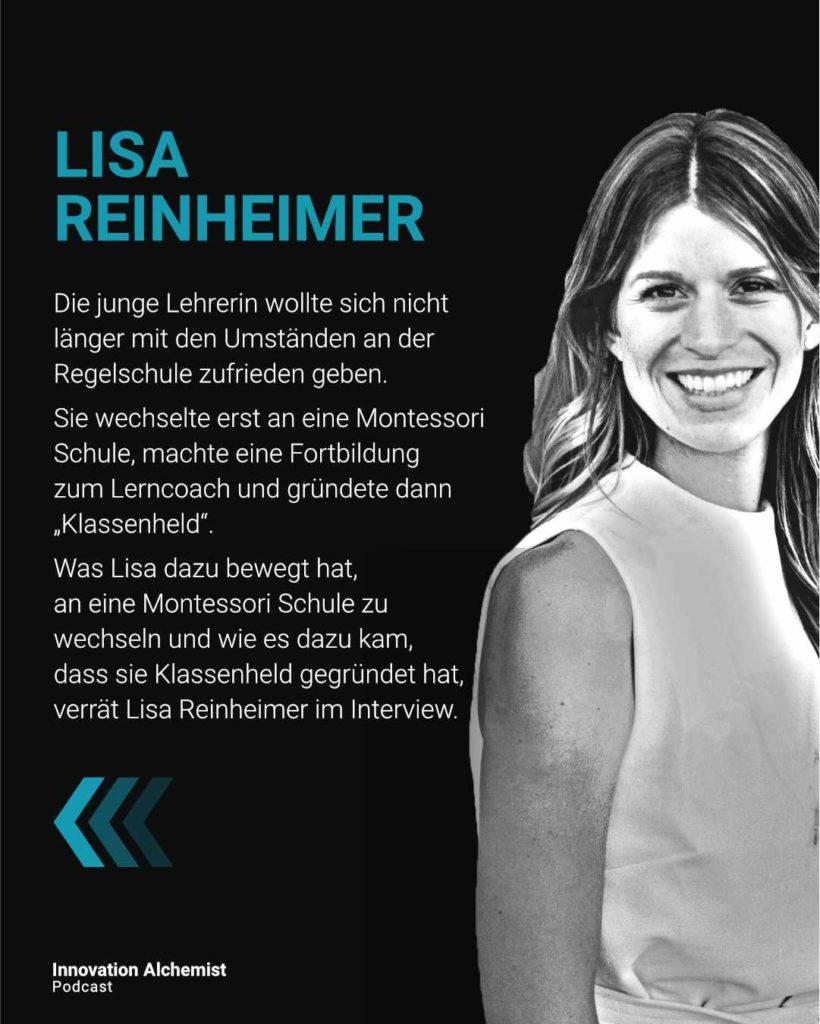 Lisa Reinheimer, die Gründerin von Klassenheld