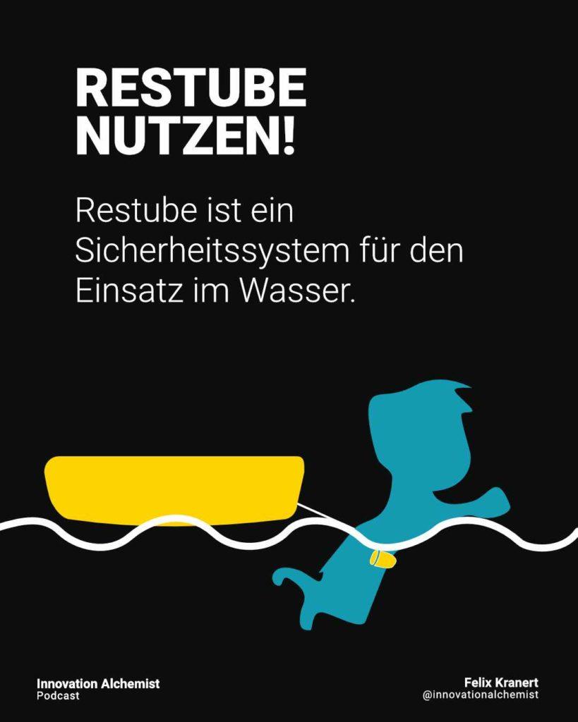 Restube ist ein Sicherheitssystem für das Wasser