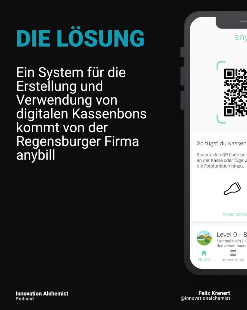 Die Lösung für digitale Kassenbons ist anybill