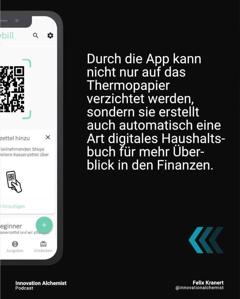 Anybill ist die App für digitale Kassenbons