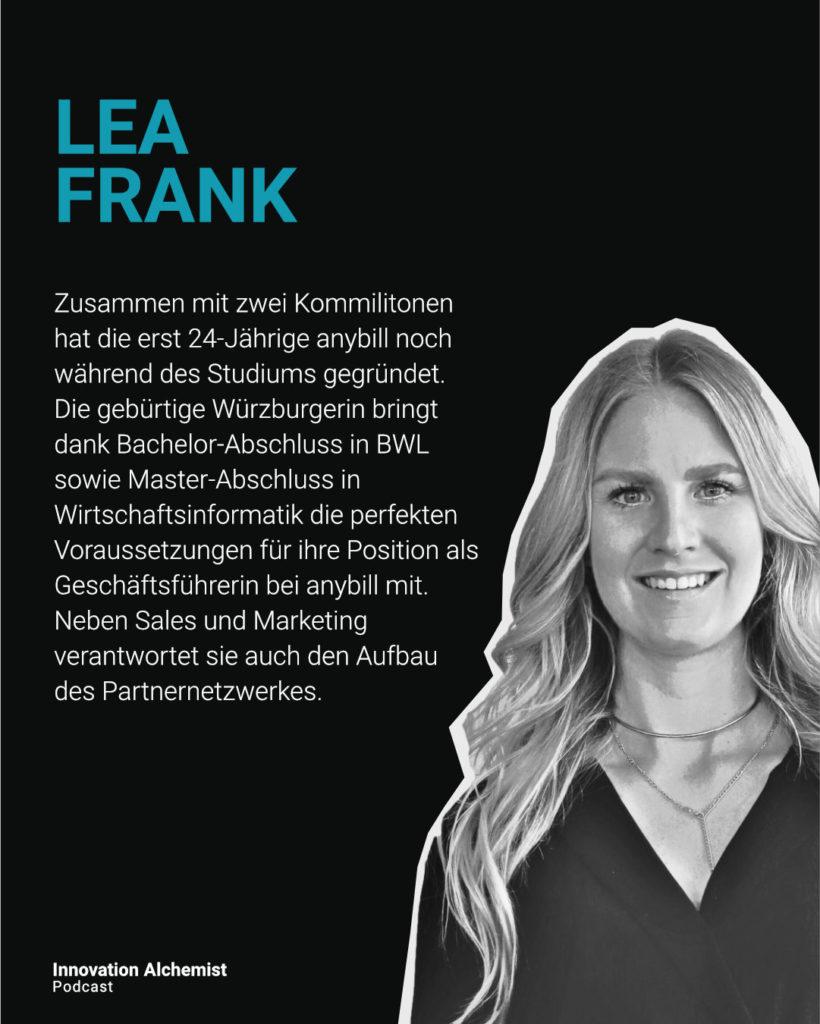 Lea Frank von anybill im Innovation Alchemist Podcast