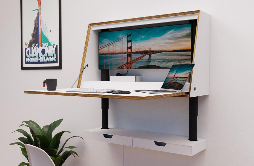 Homeoffice Schreibtisch Wall-E von Vidajo